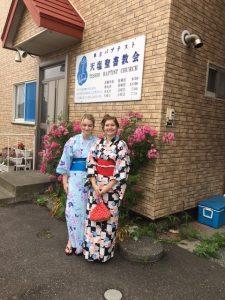 Yukatas in front of church